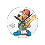 Earth Dog - Baseball Clock