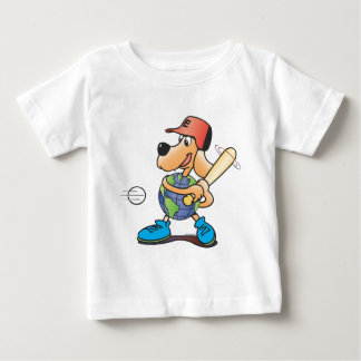 Earth Dog Plays Baseball Baby T-Shirt