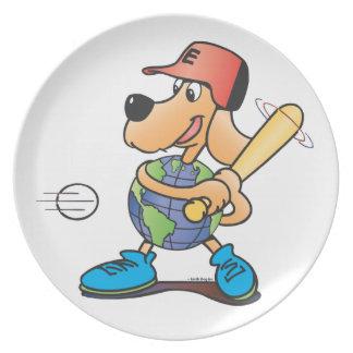 Earth Dog Plays Baseball Plate