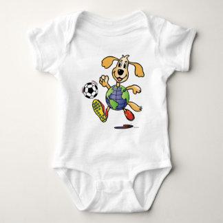 Earth Dog Plays Soccer! Baby Bodysuit