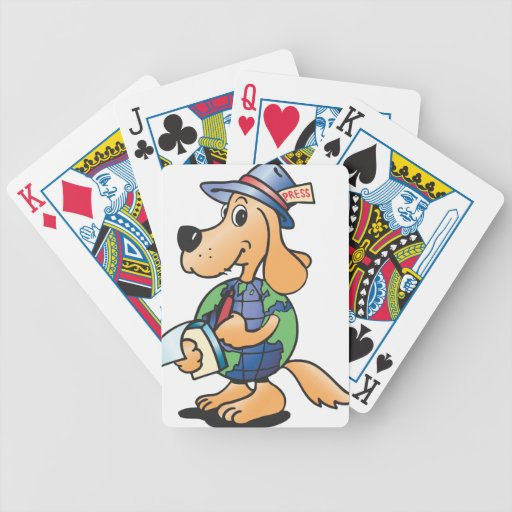 Earth Dog Reporter Bicycle Playing Cards