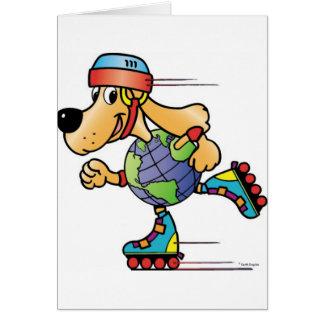 Earth Dog Skating Card
