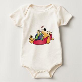 Earth Dog Sleeping Baby Bodysuit