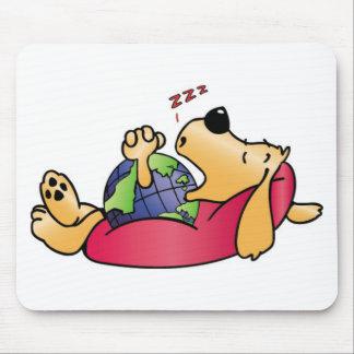 Earth Dog Sleeping Mouse Pad