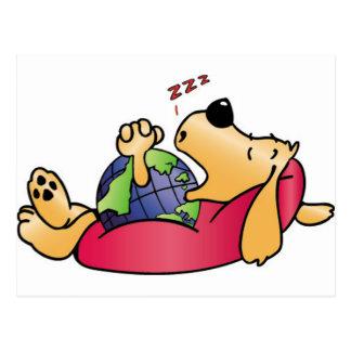 Earth Dog Sleeping Postcard