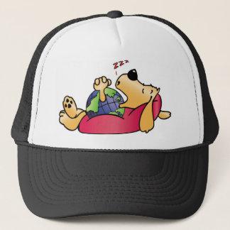 Earth Dog Sleeping Trucker Hat