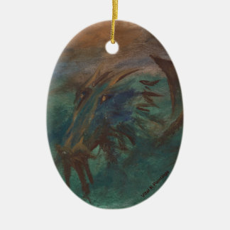 Earth Dragon Ceramic Ornament