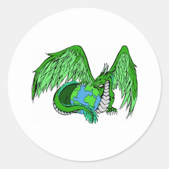 Earth Dragon Classic Round Sticker