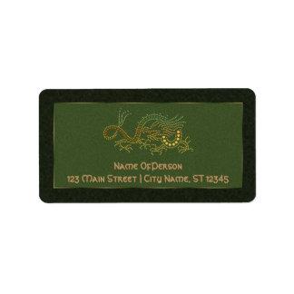 Earth Dragon Custom Address Label