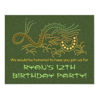 Earth Dragon Party Invitation