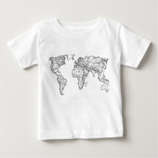 Earth drawing continents baby T-Shirt