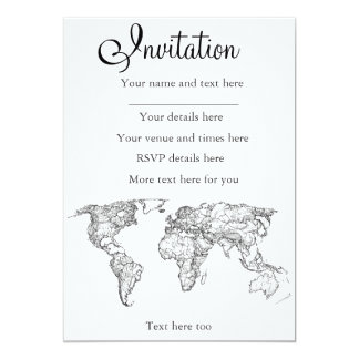 Earth drawing continents card