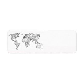 Earth drawing continents label