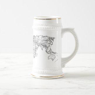 Earth drawing continents coffee mug