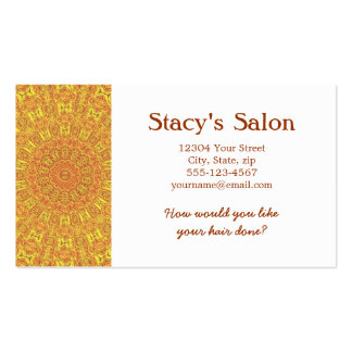 EARTH Element Contours Pattern Business Card