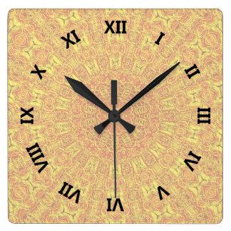 EARTH Element Contours Pattern Clocks