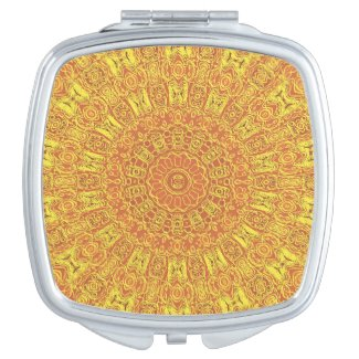 EARTH Element Contours Pattern Compact Mirrors