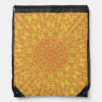 EARTH Element Contours Pattern Drawstring Bag
