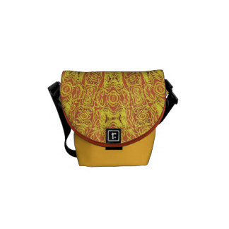 EARTH Element Contours Pattern Courier Bags