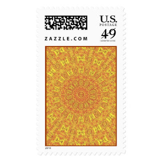 EARTH Element Contours Pattern Postage