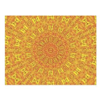 EARTH Element Contours Pattern Postcard