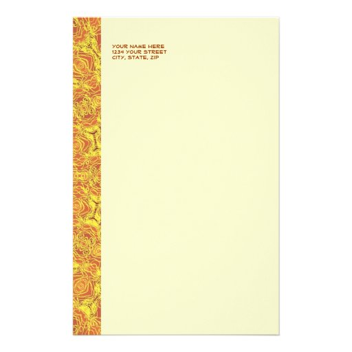 EARTH Element Contours Pattern Stationery
