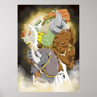 Earth Element Gods   TAOFEWA manga universe Poster
