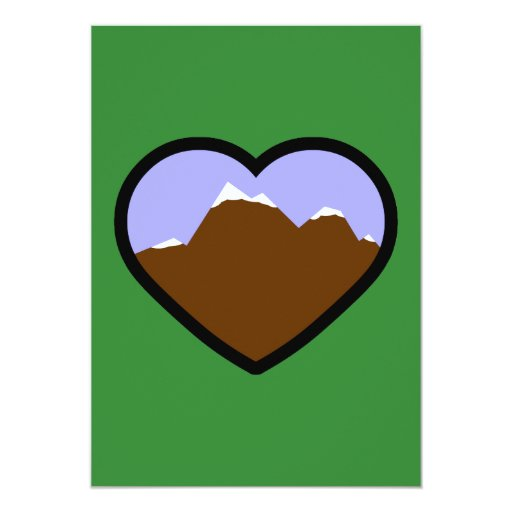 Earth Elemental Heart 5x7 Paper Invitation Card
