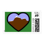Earth Elemental Heart Postage Stamp