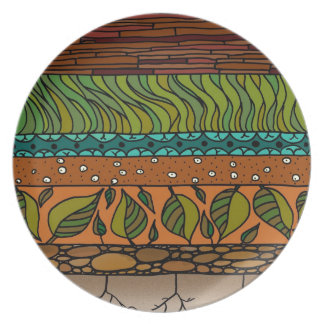 Earth Elements Party Plate