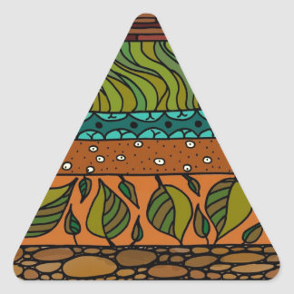 Earth Elements Triangle Sticker