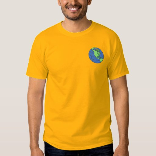 Earth Embroidered T-Shirt