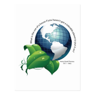 Earth Environment ~ Henry David Thoreau Quote Postcard