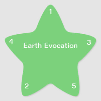 Earth Evocation Star Sticker