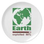 Earth: exploited - dinner plate