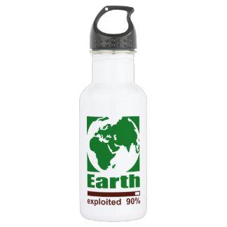 Earth: exploited - stainless steel water bottle