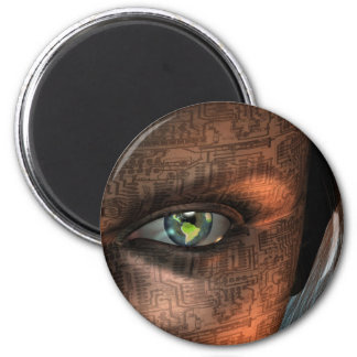 Earth Eye 2 Inch Round Magnet