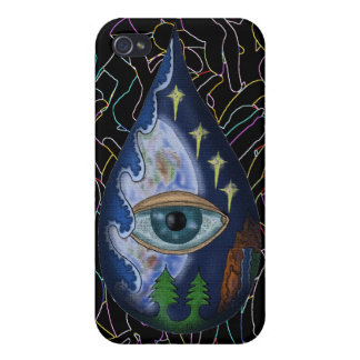 Earth eye abstract art cool iphone case design iPhone 4 case