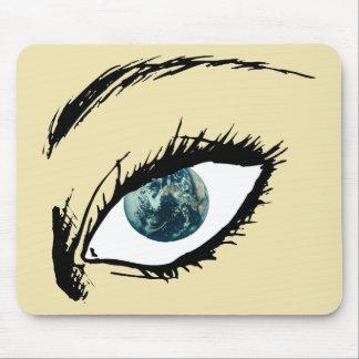 Earth Eye Mouse Pad