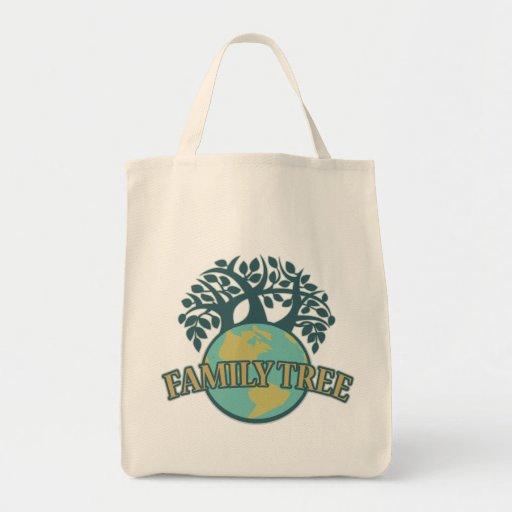 Earth Family Tree Canvas Bag