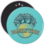 Earth Family Tree Pinback Button