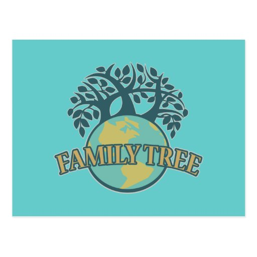 Earth Family Tree Post Cards