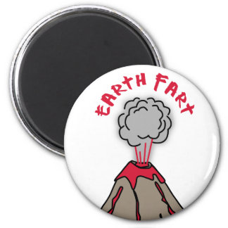 Earth Fart Volcano 2 Inch Round Magnet