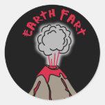 Earth Fart Volcano Classic Round Sticker