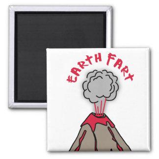 Earth Fart Volcano Magnet