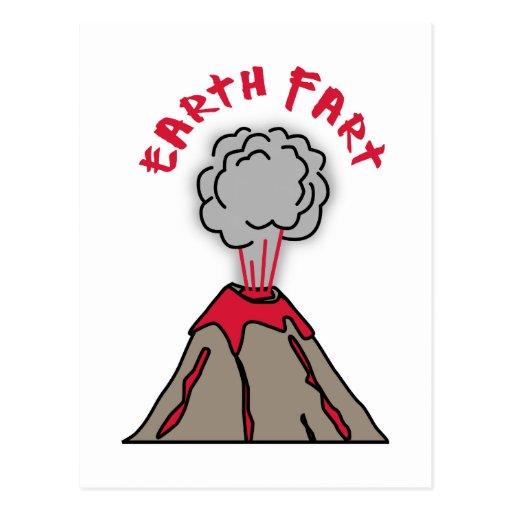 Earth Fart Volcano Postcard
