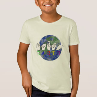 EARTH FINGERSPLELLED DEAF PLANET T-Shirt