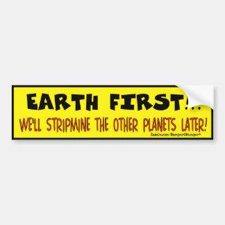EARTH FIRST CAR BUMPER STICKER