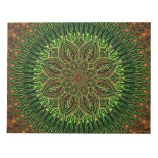 Earth Flower Mandala Notepad