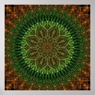Earth Flower Mandala Poster